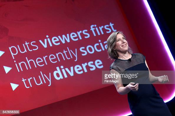 YouTube CEO Susan Wojcicki speaks at the industry keynote during VidCon at the Anaheim Hilton on June 23 2016 in Anaheim California