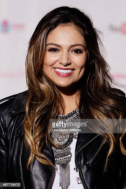 YouTube entertainer Bethany Mota arrives at the YouTube FanFest 2015 at Qantas Credit Union Arena on September 11 2015 in Sydney Australia