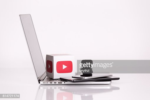 Youtube Logo Cubes with Mobile Devices