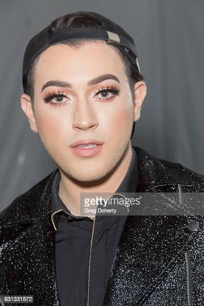 Youtube Makeup Guru and the Male Face of Maybelline Manny Gutierrez arrives at the NBCUniversal's 74th Annual Golden Globes After Party at The...