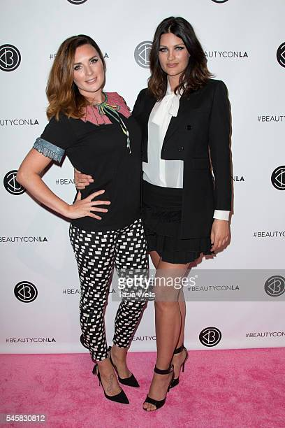 YouTube personalities Nic Pixiwoo and Sam Nixiwoo attend the 4th Annual Beautycon Festival Los Angeles at the Los Angeles Convention Center on July 9...