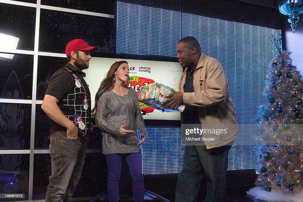 Youtube personalities Shay Carl, Katilette and Andre attend What's Trending Presents The 1st Annual Tube-A-Tweet-A-Thon Benefiting Covenant House on December 13, 2012 in Hollywood, California.