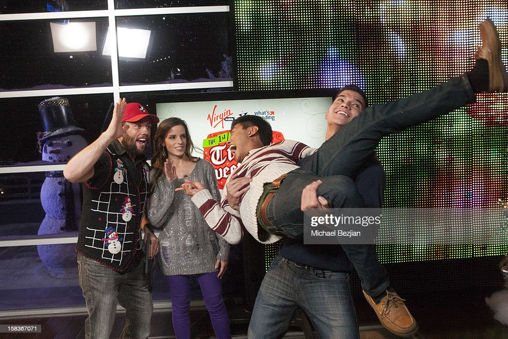 Youtube personalities Shay Carl, Katilette and Wassabi Brothers attend What's Trending Presents The 1st Annual Tube-A-Tweet-A-Thon Benefiting Covenant House on December 13, 2012 in Hollywood, California.