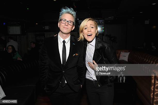 YouTube personalities Tyler Oakley and Hannah Hart attend Out100 2014 presented by Buick on November 20 2014 in New York City