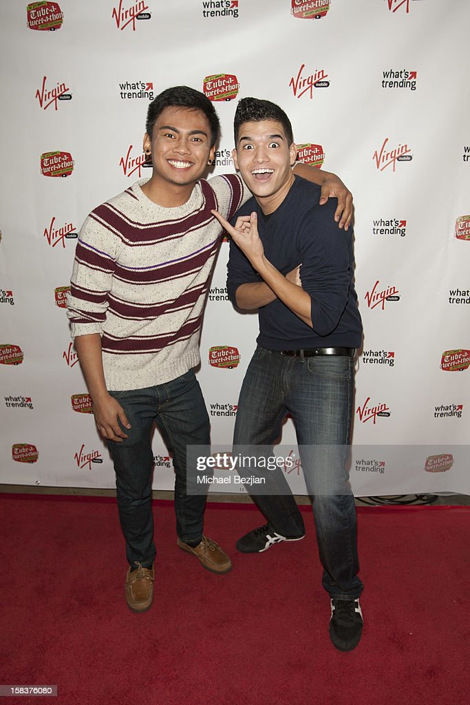 YouTube personalities Wassabi Brothers attend What's Trending Presents The 1st Annual Tube-A-Tweet-A-Thon Benefiting Covenant House on December 13, 2012 in Hollywood, California.