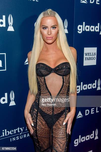 YouTube personality Gigi Gorgeous attends the 28th Annual GLAAD Awards at New York Hilton Midtown on May 6 2017 in New York City