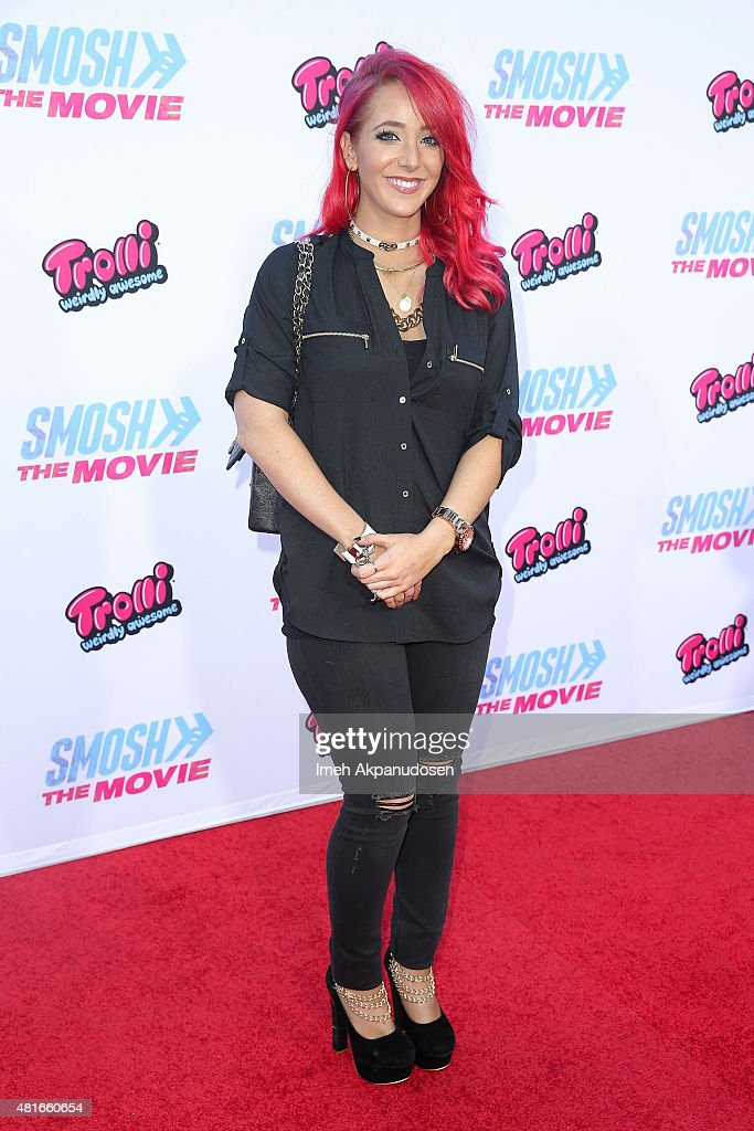 YouTube personality Jenna Marbles attends the premiere of AwesomenessTV and Defy Media's 'Smosh: The Movie' at Westwood Village Theatre on July 22, 2015 in Westwood, California.