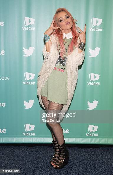 YouTube personality Kandee Johnson attends the 7th Annual VidCon at Anaheim Convention Center on June 24 2016 in Anaheim California