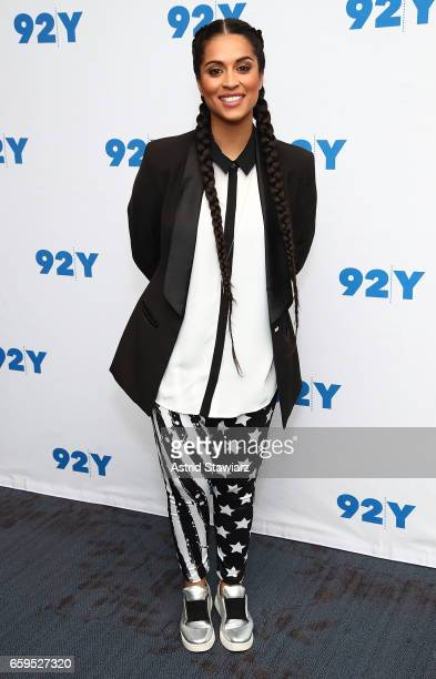 YouTube personality Lilly Singh poses for photos at the 92Y event Lilly Singh How To Be A Bawse held at Kaufman concert hall on March 28 2017 in New...