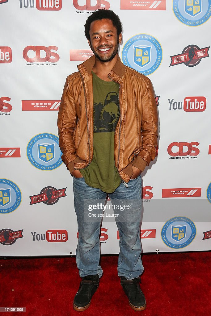 YouTube personality Rocky Collins attends the Video Game High School season 2 premiere party at YouTube Space LA on July 24, 2013 in Los Angeles, California.