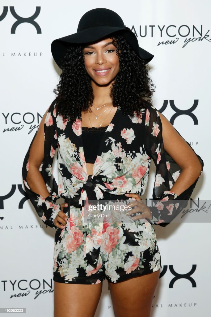 YouTube personality SunKissAlba attends NYX Cosmetics Talent Lounge At BeautyConNYC at Pier 36 on May 24, 2014 in New York City.