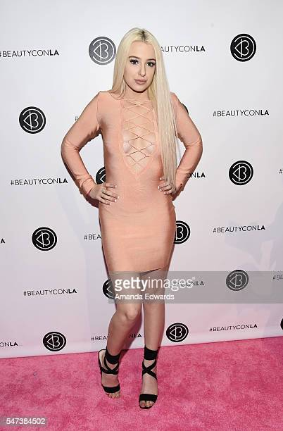 YouTube personality Tana Mongeau arrives at the 4th Annual Beautycon Festival Los Angeles at the Los Angeles Convention Center on July 9 2016 in Los...
