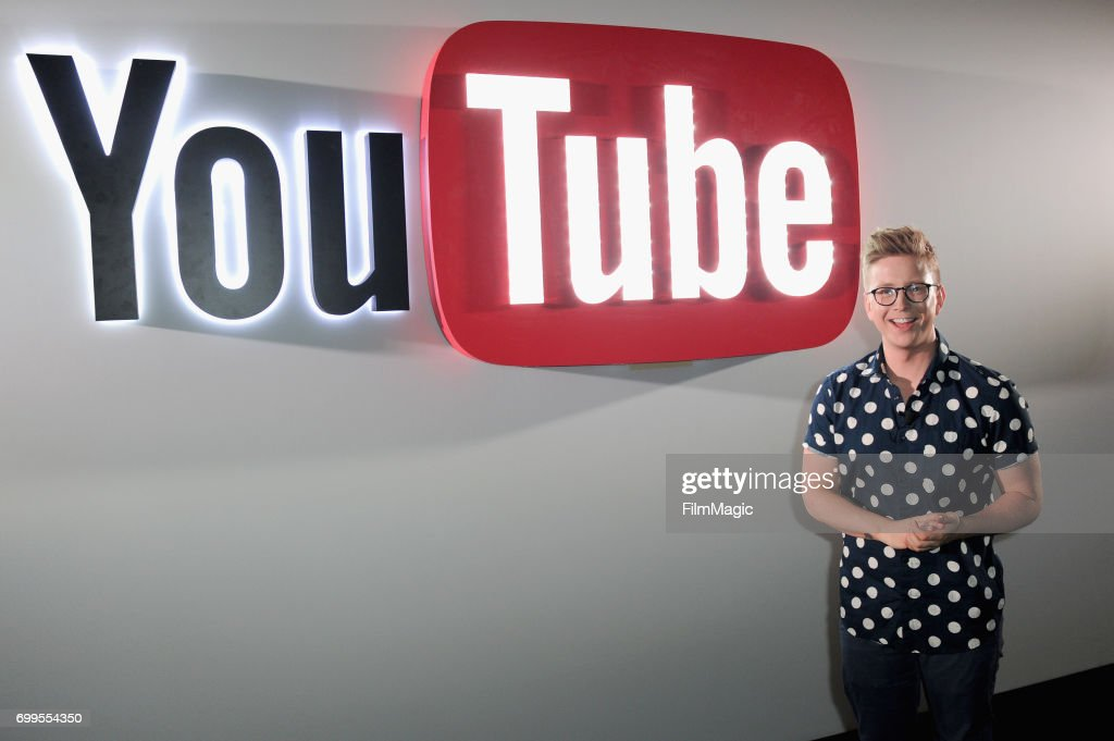 YouTube personality Tyler Oakley at YouTube @ VidCon Brand Lounge at Anaheim Convention Center on June 21, 2017 in Anaheim, California.