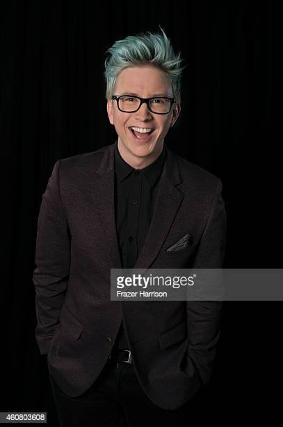 YouTube personality Tyler Oakley poses for a portrait at Logo TV's NewNowNext Awards on December 2 2014 at Kimpton Surfcomber Hotel in Miami Beach...