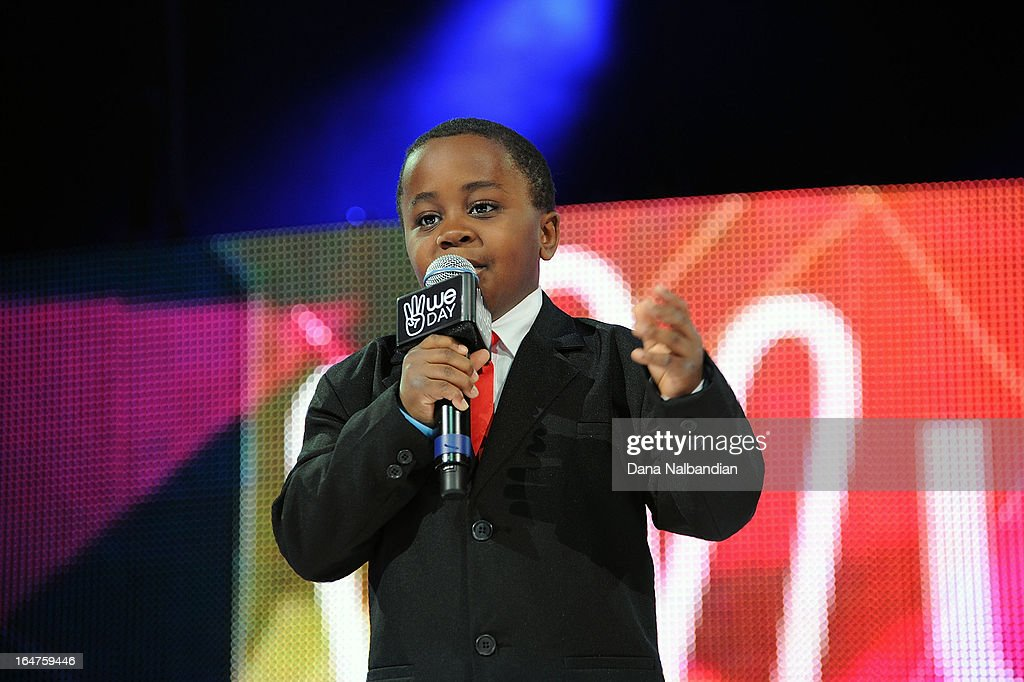 Youtube sensation Kid President kicks off the first ever We Day in the U.S. at KeyArena at Seattle Center with an energetic and inspirational call to action to make the world awesome.