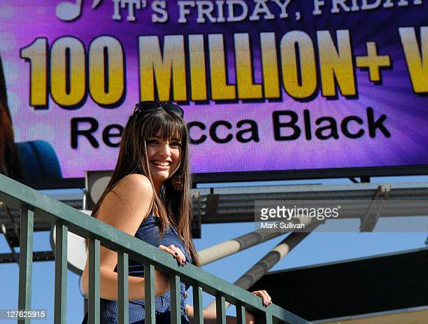 YouTube sensation Rebecca Black at the 'Friday' billboard unveiling ceremony celebrating over 100 million YouTube views on April 15 2011 in Los...