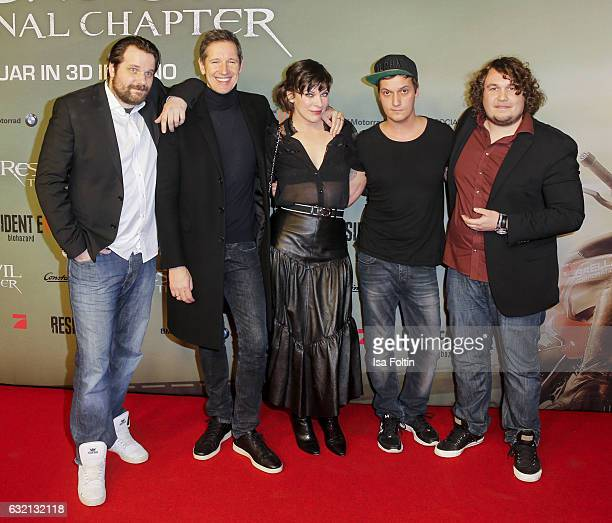 Youtube star and games producer Gronkh producer Paul W S Anderson his wife US actress Milla Jovovich youtube star and video blogger LeFloid and...