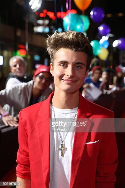 YouTube star Christian Collins attends YouTube Red Original Premiere of 'A Trip To Unicorn Island' at TCL Chinese Theatre on February 10 2016 in Los...