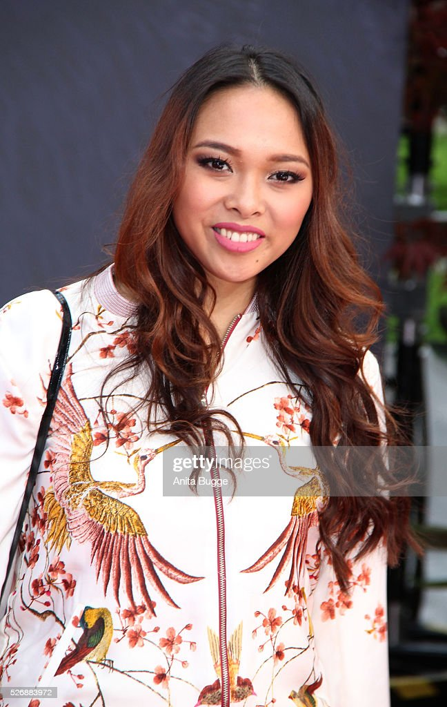 Youtube star Christina Ann Zalamea aka Hello Chrissy attends the Berlin premiere of the film 'Angry Birds - Der Film' at CineStar on May 1, 2016 in Berlin, Germany.