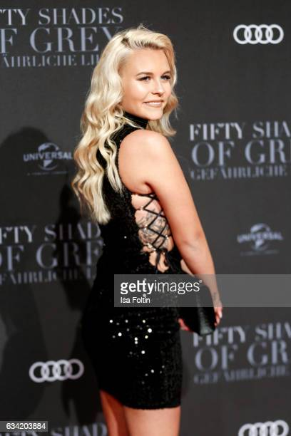 Youtube star Dagi Bee attends the European premiere of 'Fifty Shades Darker' at Cinemaxx on February 7 2017 in Hamburg Germany