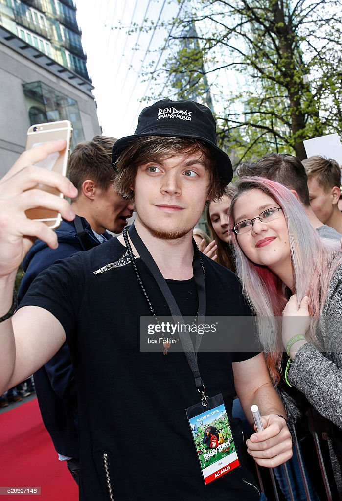 Youtube star Viktor aka iBlali the Berlin premiere of the film 'Angry Birds - Der Film' at CineStar on May 1, 2016 in Berlin, Germany.