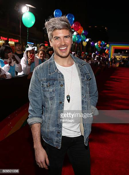 YouTube star Joey Graceffa attends YouTube Red Original Premiere of 'A Trip To Unicorn Island' at TCL Chinese Theatre on February 10 2016 in Los...