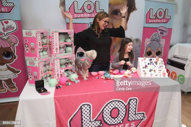 Youtuber Amy Jo speaks during the launch of the LOL Surprise Unboxing Video Booth and LOL Surprise Pets hosted by Hilaria Baldwin at Toys 'R' Us NYC...