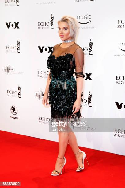 Youtuber and singer Shirin David during the Echo award red carpet on April 6 2017 in Berlin Germany