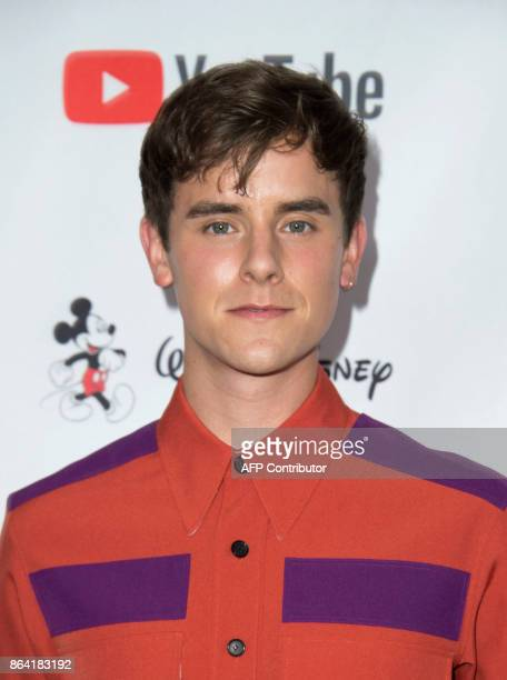 YouTuber Connor Franta attends The 2017 GLSEN Respect Awards on October 20 in Beverly Hills California / AFP PHOTO / VALERIE MACON