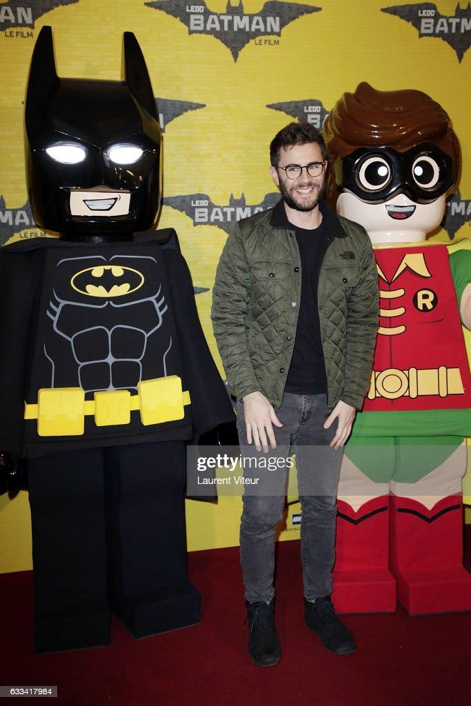 YouTuber Cyprien Lov attends 'Lego Batman' Paris Premiere at Le Grand Rex on February 1, 2017 in Paris, France.