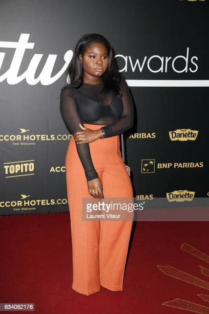 Youtuber Gloria attends the '4th Melty Future Awards' at Le Grand Rex on February 6 2017 in Paris France