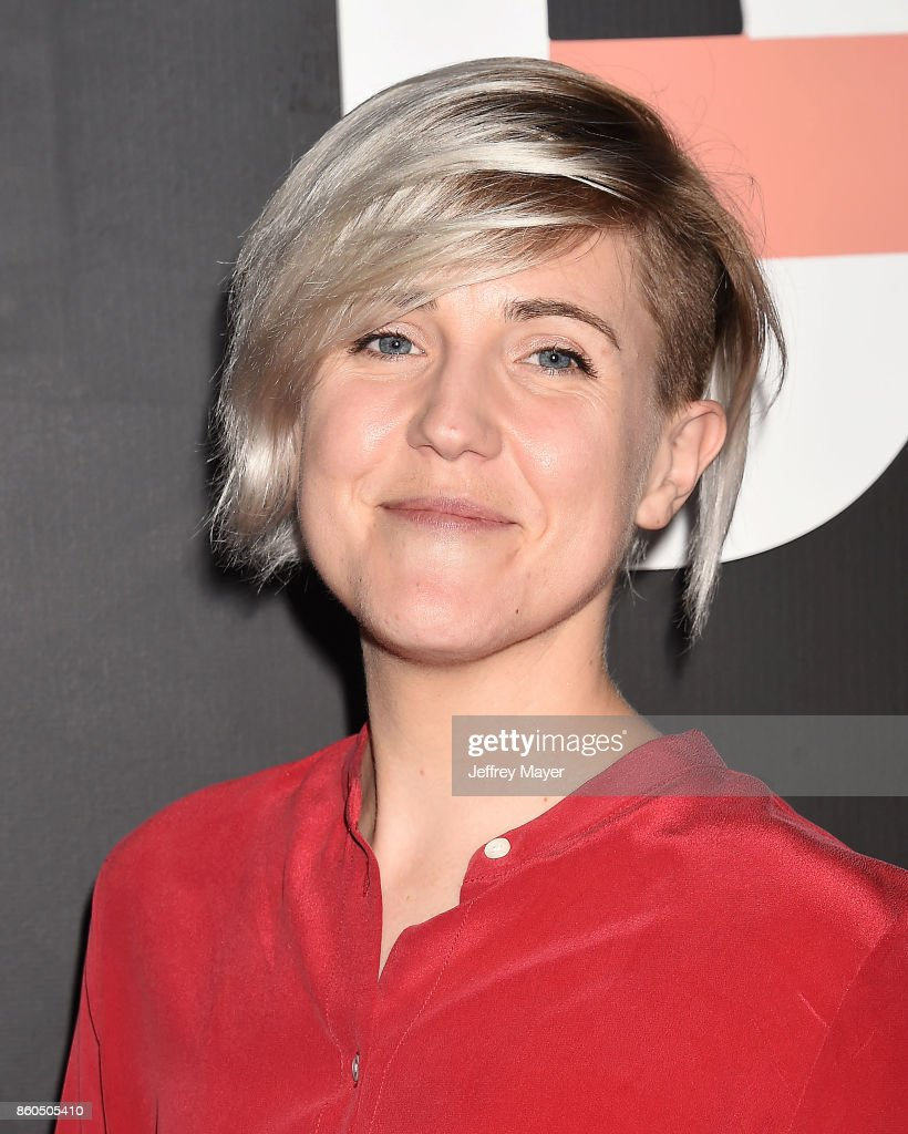YouTuber Hannah Hart arrives at the Premiere Of YouTube's 'Demi Lovato: Simply Complicated' at the Fonda Theatre on October 11, 2017 in Los Angeles, California.