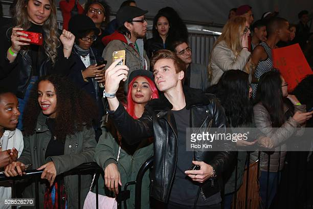 YouTuber Joe Sugg poses for a photo during YouTube Brandcast presented by Google on May 5 2016 in New York City