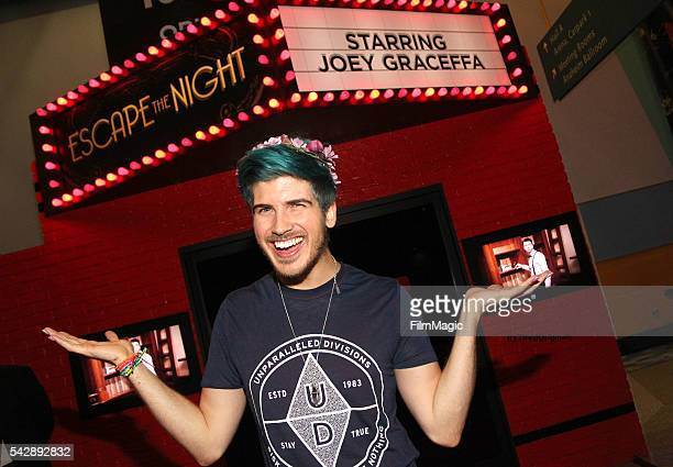 YouTuber Joey Graceffa attends the YouTube Red Originals Experience during VidCon at the Anaheim Convention Center on June 24 2016 in Anaheim...