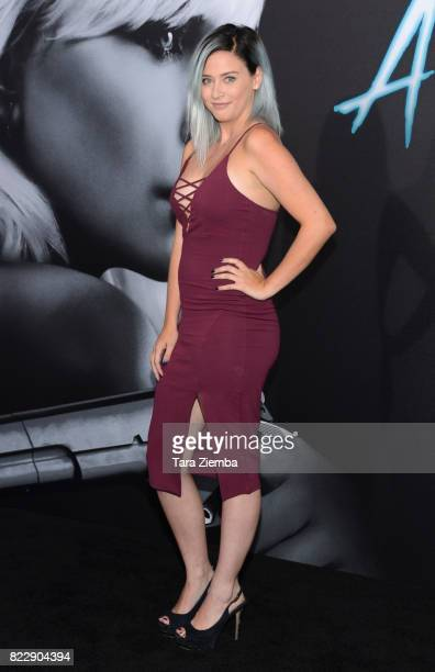 Youtuber Lily Marston attends Focus Features' 'Atomic Blonde' at The Theatre at Ace Hotel on July 24 2017 in Los Angeles California
