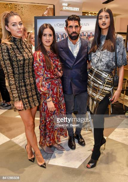 Youtuber Lydia Elise Millen Jessica Diner Vogue Beauty Health Editor Adrien Koskas General Manager of L'Oreal Paris UK and Neelam Gill attend the...