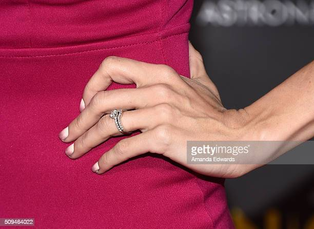 YouTuber Miranda Sings ring detail arrives at the premiere of 'A Trip To Unicorn Island' at TCL Chinese Theatre on February 10 2016 in Hollywood...