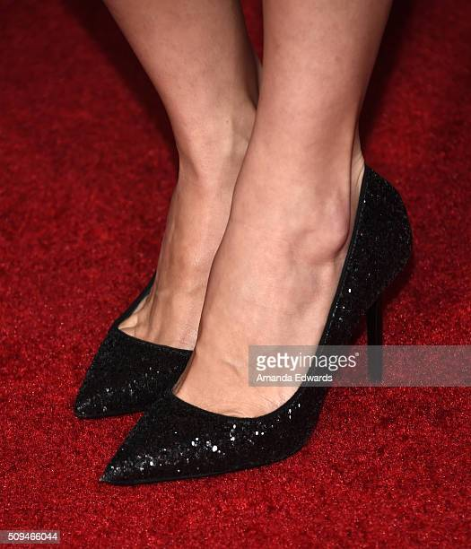 YouTuber Miranda Sings shoe detail arrives at the premiere of 'A Trip To Unicorn Island' at TCL Chinese Theatre on February 10 2016 in Hollywood...