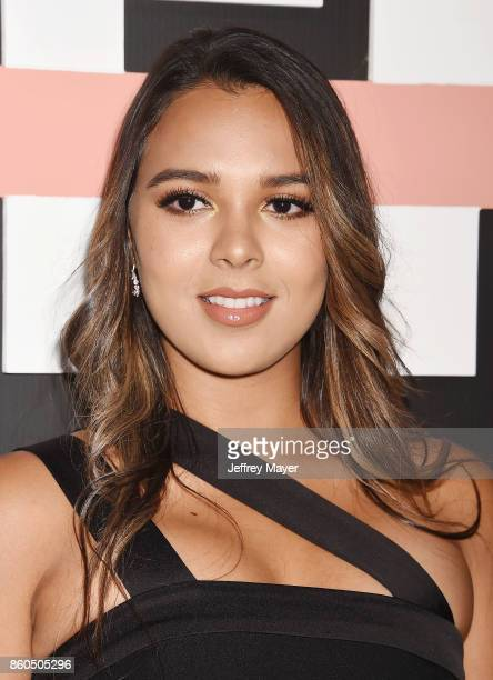 YouTuber Natalie Alzate arrives at the Premiere Of YouTube's 'Demi Lovato Simply Complicated' at the Fonda Theatre on October 11 2017 in Los Angeles...