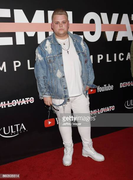 YouTuber Nick Crompton arrives at the Premiere Of YouTube's 'Demi Lovato Simply Complicated' at the Fonda Theatre on October 11 2017 in Los Angeles...