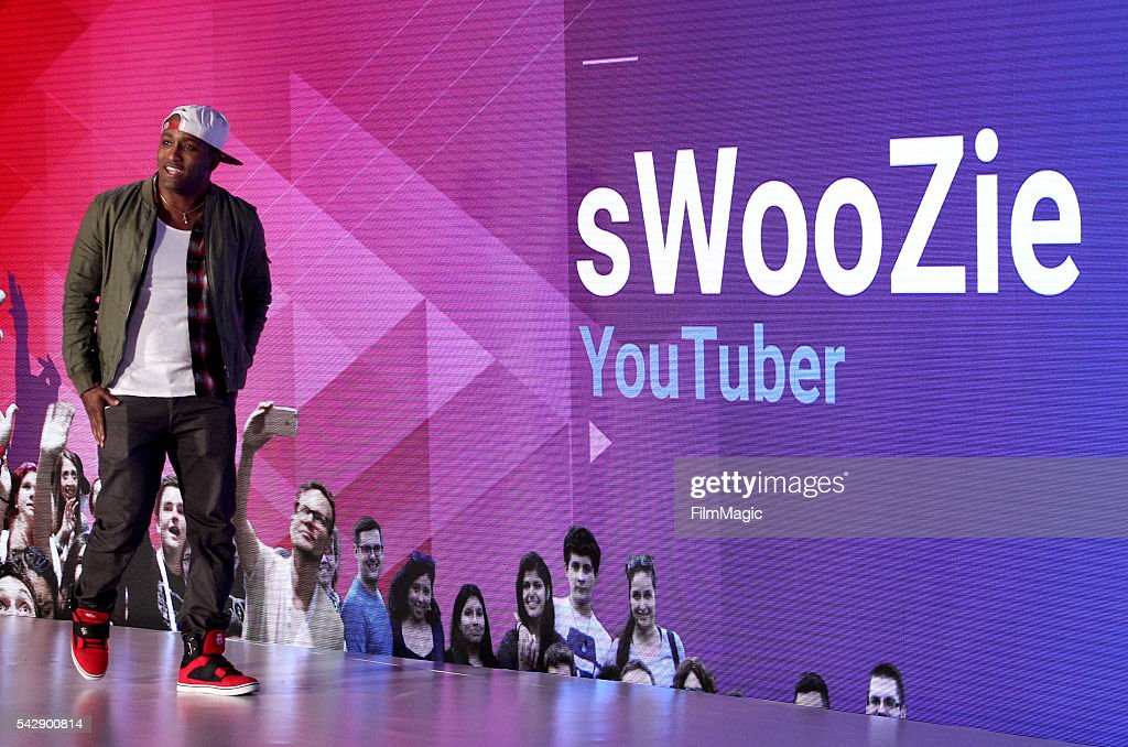 YouTuber sWooZie speaks onstage at the YouTube Lounge during VidCon at the Anaheim Convention Center on June 23, 2016 in Anaheim, California.