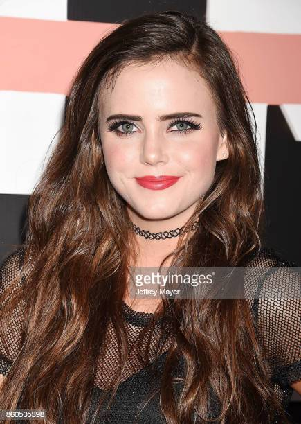 YouTuber Tiffany Alvord arrives at the Premiere Of YouTube's 'Demi Lovato Simply Complicated' at the Fonda Theatre on October 11 2017 in Los Angeles...