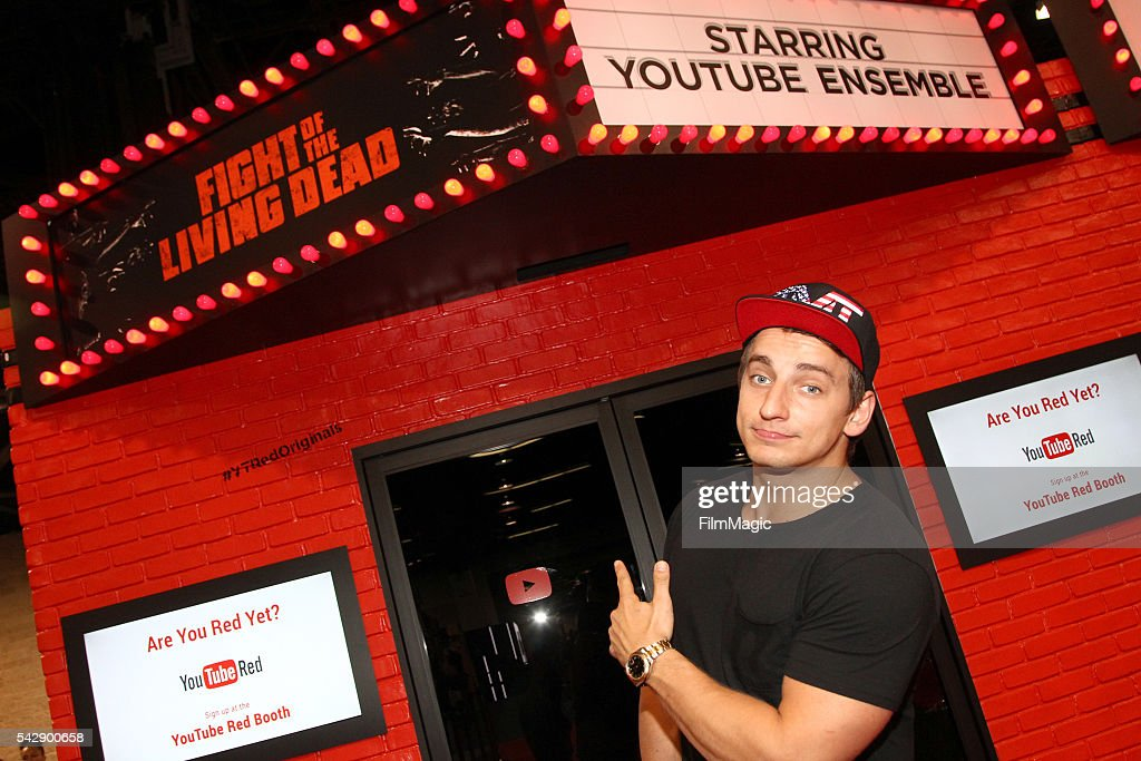 YouTuber Vitaly Zdorovetskiy aka VitalyzdTv attends the YouTube Red Originals Experience during VidCon at the Anaheim Convention Center on June 24...