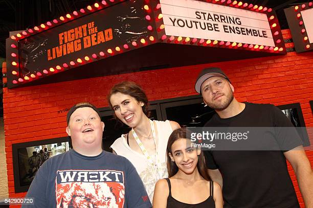 YouTubers Brandon Bowen Brittani Louise Taylor Raya and Dennis Roady attend the YouTube Red Originals Experience during VidCon at the Anaheim...