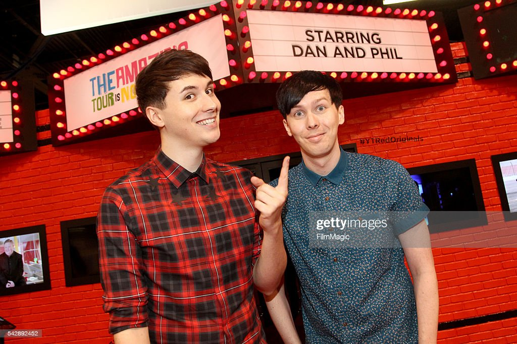 YouTubers Dan and Phil attend the YouTube Red Originals Experience during VidCon at the Anaheim Convention Center on June 24 2016 in Anaheim...