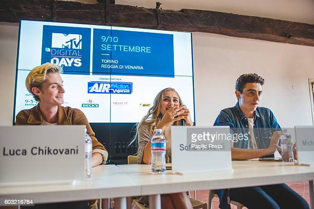 VENARIA VENARIA TORINO ITALY Youtubers talking at the panel called 'The Web communication instrument for the creative process' with Sofia Viscardi...