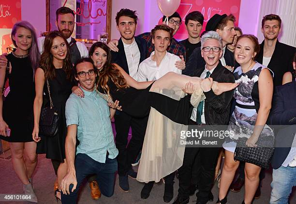 Youtubers Victoria Magrath guests Louis Cole Zoe Sugg Alfie Deyes Joe Sugg Phil Lester Dan Howell Tyler Oakley Marcus Butler Tanya Burr and Jim...