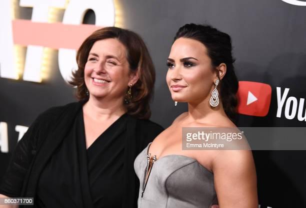 Youtube's global head of original content Susanne Daniels and Demi Lovato attend the 'Demi Lovato Simply Complicated' YouTube premiere at The Fonda...