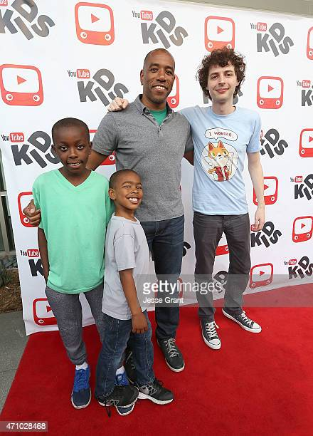 YouTube's Head of Family/EDU Malik Ducard and family with YouTube star and Minecraft gamer in the world Joseph Garrett meets US fans to celebrate the...