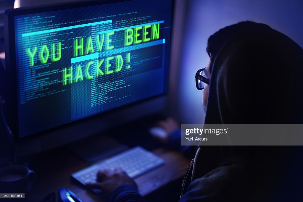 You've been hacked! : Stock Photo